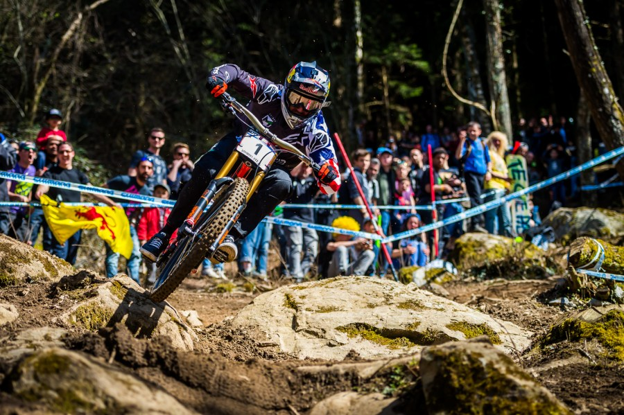 Aaron Gwin at the 2016 Lourdes World Cup