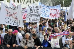 Prosvjed nogomet Riva