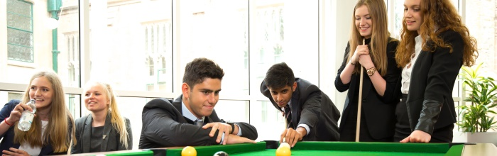Nottingham High Sixth form pool snooker coed girl boy