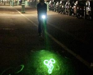Blaze projecting laser bike light