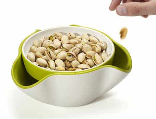 serving bowl and  waste receptacle bowl in one by Joseph and Joseph