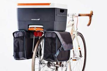 Detachable and lockable bicycle crate