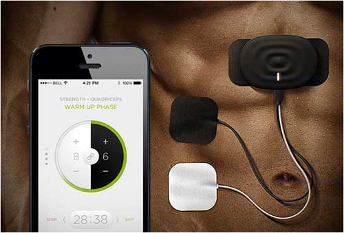 Smartmio, app connected, electronic muscle stimulator