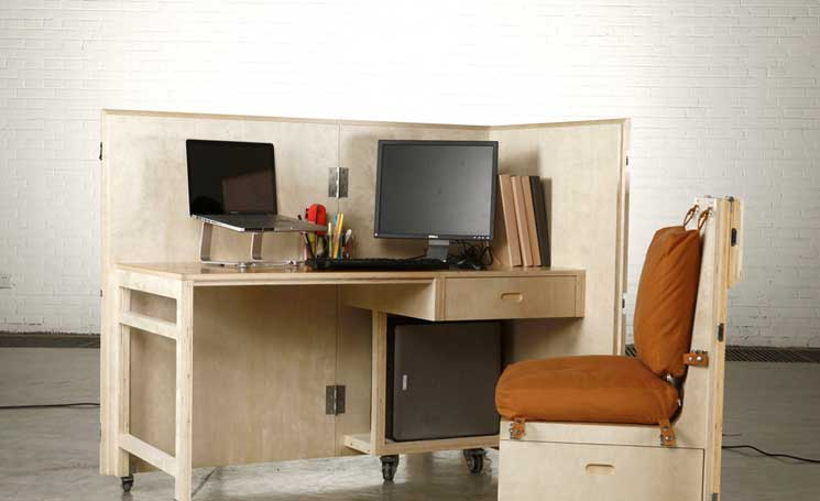 The Crates mobile, crated furniture