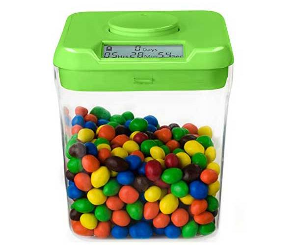 time locking food container