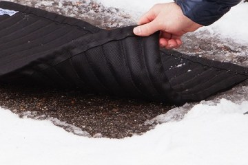 Saltnets snow melting mat