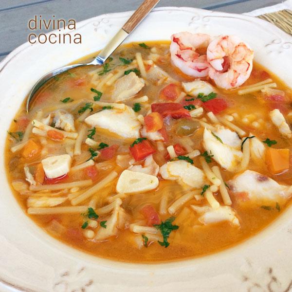 Sopa de pescado fácil