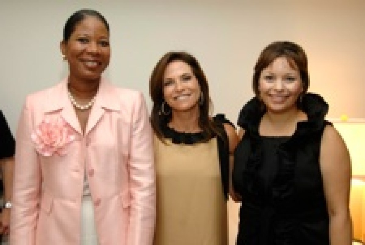 Dr. Dara Richardson-Heron, CEO of The Greater New York City Affiliate of Susan G. Komen for the Cure, Iris Dankner, Krissa Rossbund of Traditional Home Magazine