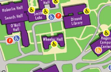 Campus Maps   College of the Holy Cross Campus Map  2D and Interactive