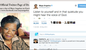 Maya Angelou's Last Words on Twitter