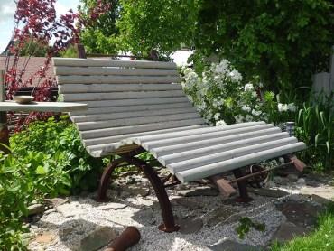 Gartenbank kreativ