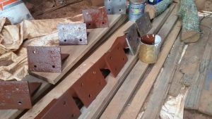Painted brackets for the porch