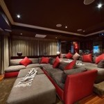 best home theater and red seating