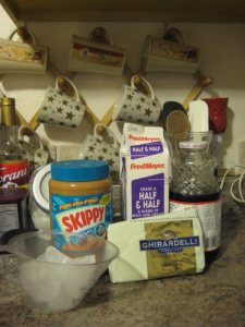 White Chocolate Peanut Butter Frappuccino ingredients