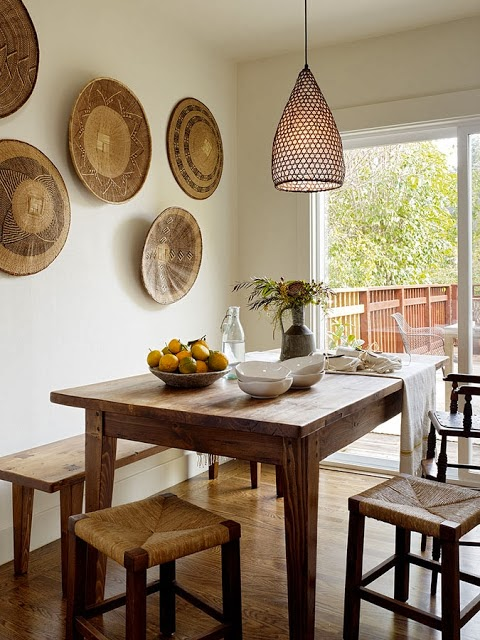 Wall Decor with Baskets