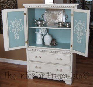 Small Armoire Makeover from bedroom to dining room