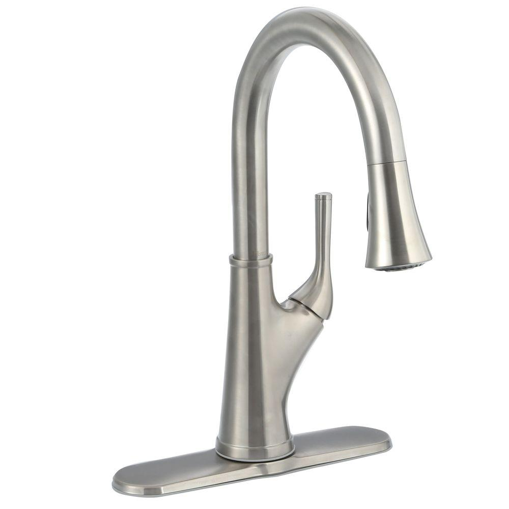 price pfister kitchen faucet Cantara Single Handle Pull Down Sprayer Kitchen Faucet in Stainless Steel