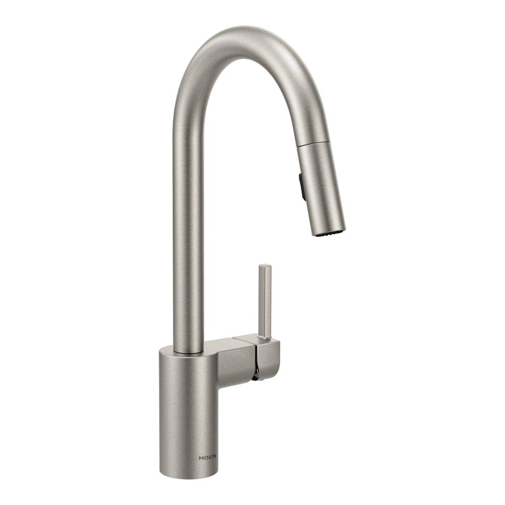 N k kitchen faucet sale Align Single Handle Pull Down Sprayer Kitchen Faucet with Reflex in Spot Resist
