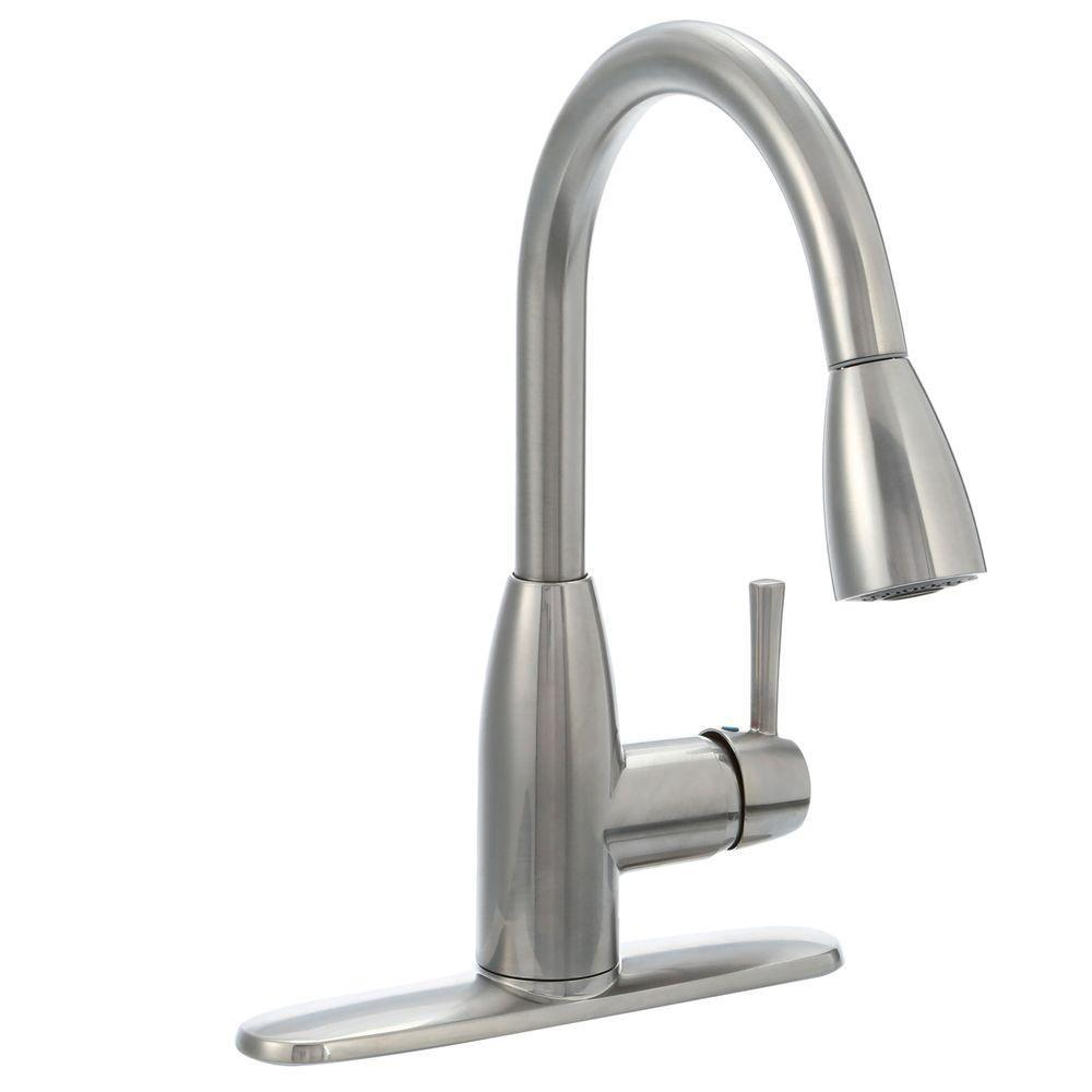 N a kitchen faucet sale Fairbury Single Handle Pull Down Sprayer Kitchen Faucet in Stainless Steel