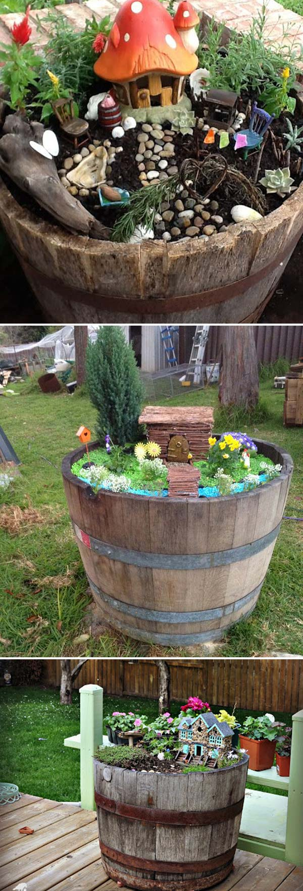 Staggering Fairy Gardens Throw Away Those Broken Wine Y Can Be Turned To Fairy Gardens Created By Recycled Things Pics Fall Fairy Gardens garden Pics Of Fairy Gardens