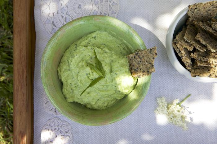CREAMY GREEN PEA & AVOCADO DIP - Homegrown Kitchen