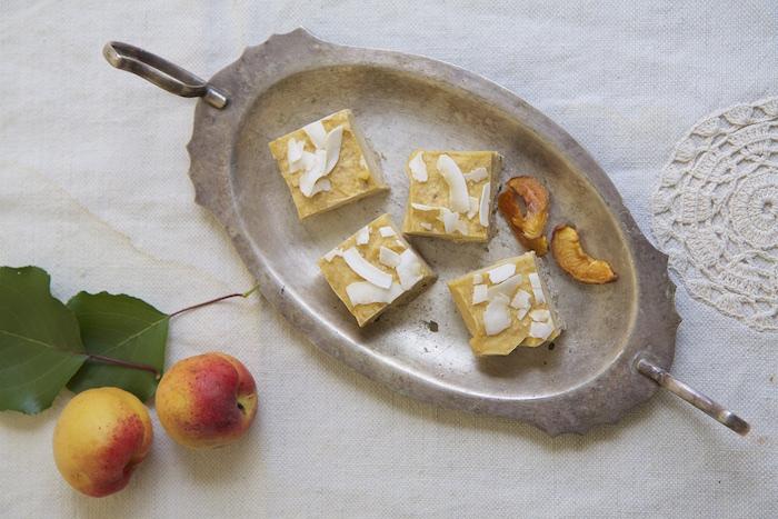 Raw Apricot & Macadamia Slice | HOMEGROWN KITCHEN