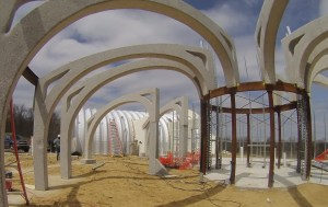 I just liked this pic that the timelapse camera took of the arches while we were organizing the wires