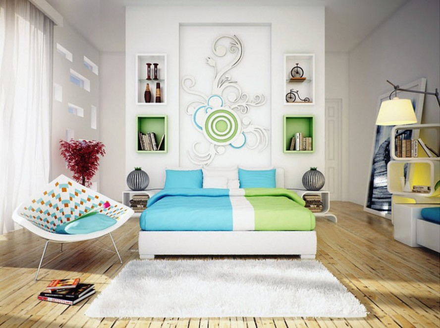 It Is One Of The Most Popular Small Bedroom Ideas For You Today. You Can  Install Bright Light On Your Small Space, So You Can Make Your Room Look  Bigger ...