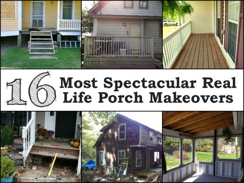 Fascinating 16 Most Spectacular Real Life Porch Makeovers Small Porch Roof Ideas Small Front Porch Ideas Uk