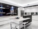 Modern Minimalist Kitchen with Adjoining Scullery