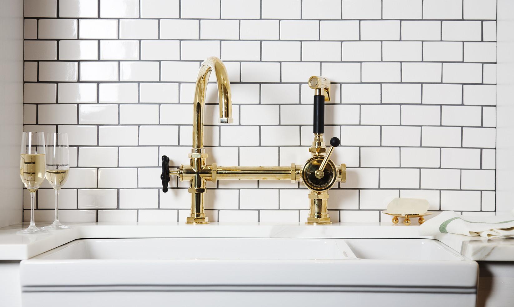 brass kitchen faucet unlacquered brass kitchen faucet Unlacquered Brass Kitchen Faucet