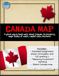 canada map freebie