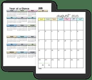 parent planner calendars