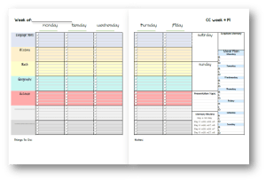 parent planner weekly view