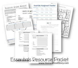 Essentials Resource Packet Pic