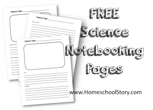Science notebooking pages graphic