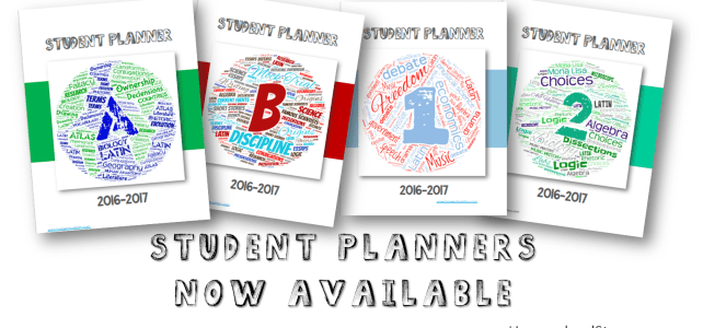 It's Here….Student Planners Now Available!