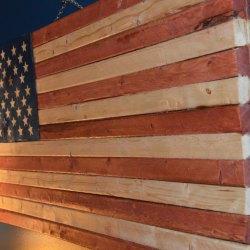 Rustic American Flag Homesteadhow