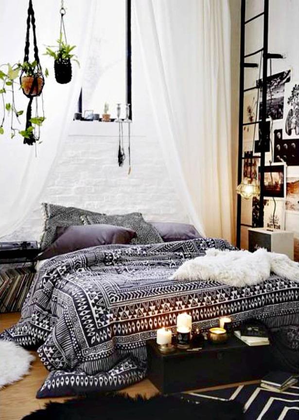 boho-interior-black-white