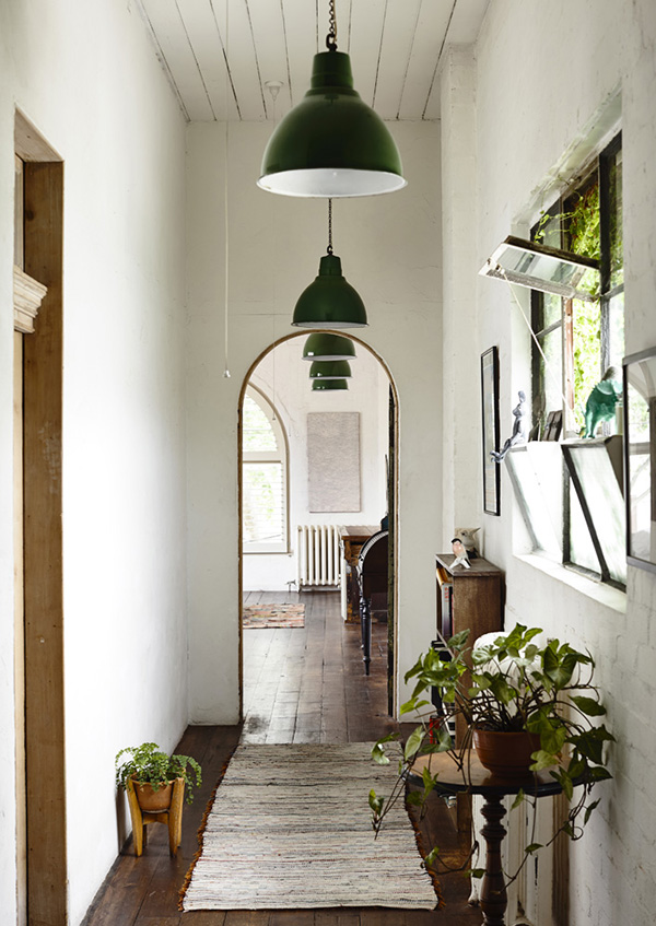 eclectic entryway
