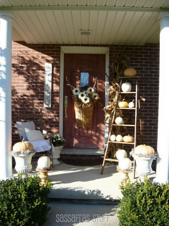 22 Fall Front Porch Ideas  veranda  fall front porch decorating ideas