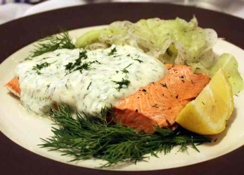 Paleo Salmon with Mustard-Cream Sauce