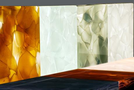 glass tiles splashback