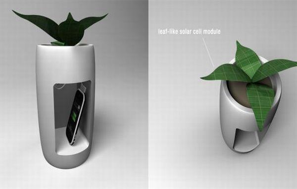 Solar flowerpot charger
