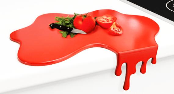 Splash Red Chopping Board by Mustard
