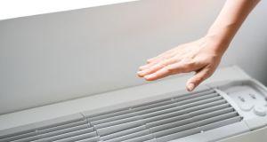 Check air conditioner heat or room temperature