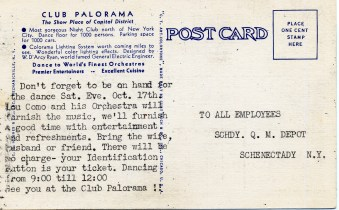 Club Palorama Postcard Back