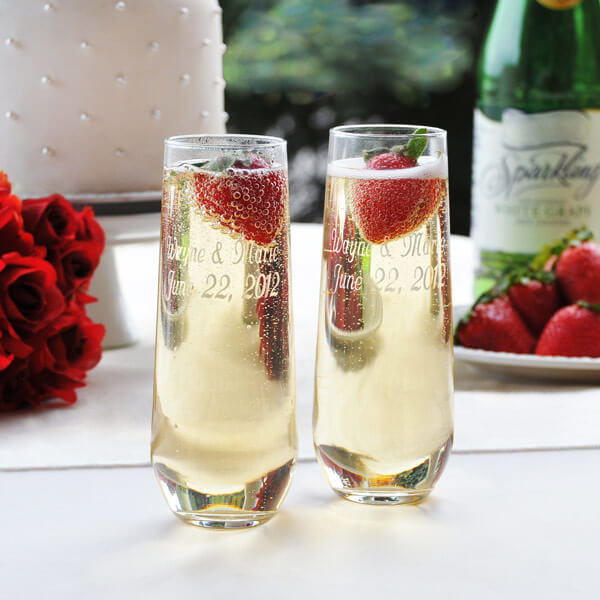 Stemless Champagne Flutes