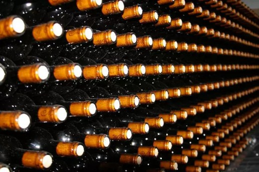 Port Bottles at Home Wet Bar