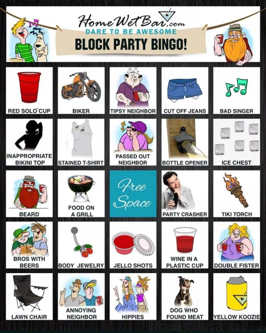 Block Party Bingo Outdoor Game
